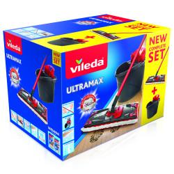 Набор VILEDA Ультрамат в коробке (швабра со сборной ручкой+ведро с отжимом) 8137431