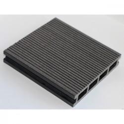 ТерраснаядоскаМастерДэкClassic, узкий вельвет + тиснение,цветантрацит, 3000x140x26мм