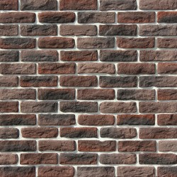 Камень искусственный декоративный Брюгге брик 316-40 темно-кориченвый