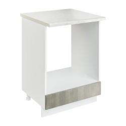 Шкаф-стол рабочий под духовку СД 600 Женева (CC 8034 Орех мраморный 34)