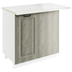 Шкаф-стол рабочий угловой СУ 800 Женева (CC 8034 Орех мраморный 34)