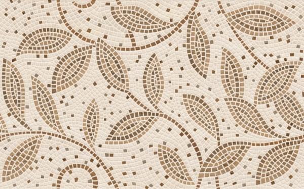 плитка настенная travertine mosaic коричневый декор 25*40 (1,6м2/81м2)