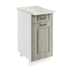 Шкаф-стол рабочий с 1 ящиком 1С400Я1 Женева (CC 8034 Орех мраморный 34)