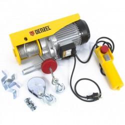 Тельфер электрический TF-800, 0.8 т, 1300 Вт, высота 12 м, 8 м/мин // DENZEL 52014