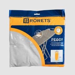Чехол для гладильной доски RORETS 120х40см Peggy grey металлизир+поролон 7557-01001