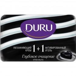 Мыло DURU 1+1 80г с активированным углем