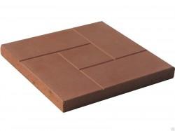 Плитка тротуар. полимер.(250*250*20)-1,15кг кр-кирп.(нагр. 500 кг.)