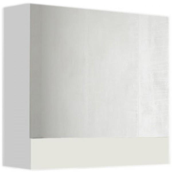 зеркало-шкаф соната 60 1д. белый глянец