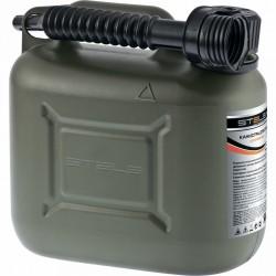 Канистра для ГСМ вертикальная 5 литров, пластиковая, усиленная STELS 53124
