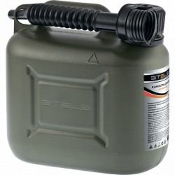 Канистра для ГСМ вертикальная 10 литров, пластиковая, усиленная STELS 53126
