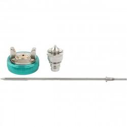 Набор для краскораспылителя AG970LVLP: сопло 1,0мм, игла, чашка Stels 57346