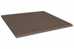 Ступень  коричневый Simple brown 3-d R 30х30 (0,90) 37020