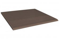 Ступень  коричневый Simple brown R 30х30 45262