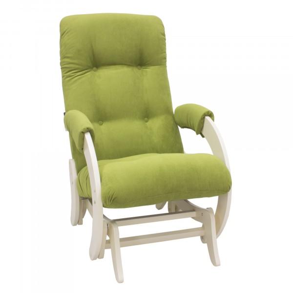 кресло-качалка глайдер модель 68, verona apple green, дуб шампань