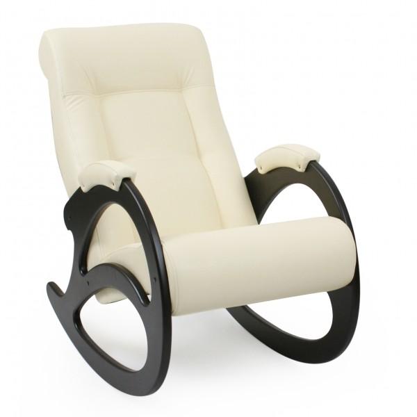 кресло-качалка ми модель 4 венге б/л (каркас венге б/л, обивка dundi 112)