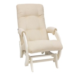 Кресло-качалка глайдер МИ Модель 68 (Дуб шампань, ткань Verona Vanilla)