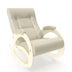 Кресло-качалка Комфорт  89х60смискусственная кожаЦвет:бежевый