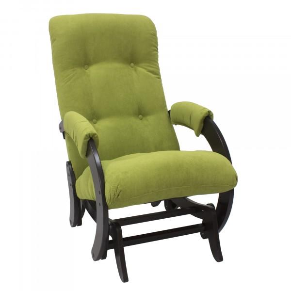 кресло-качалка глайдер модель 68, verona apple green, венге
