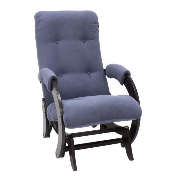 кресло-качалка глайдер модель 68 (verona denim blue, венге)
