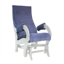 Кресло-качалка глайдер МИ Модель 708 (Дуб шампань патина, ткань Verona Denim Blue)