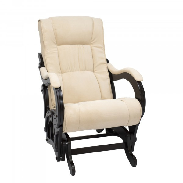 кресло-качалка глайдер модель 78, verona vanilla, венге