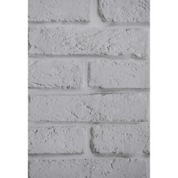 Панели ПВХ 2.7x0.25x0,07мм Кирпичи Белый С Серым