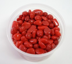 Галька цветная красная (фракция 5-10 мм)