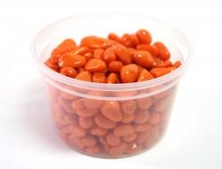 Галька цветная оранжевая (фракция 5-10 мм)