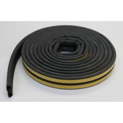 Уплотнитель Profitrast P-профиль (9*5.5мм) черный 6м