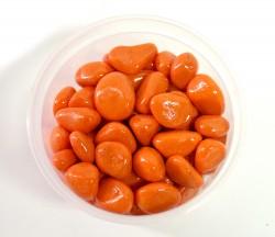 Галька цветная крупная оранжевая (фракция 10-15 мм)
