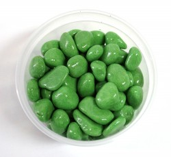 Галька цветная крупная салатовая (фракция 10-15 мм)