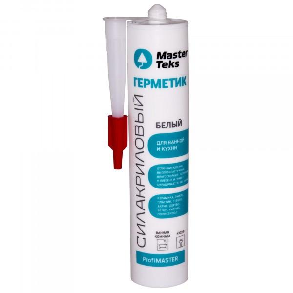 герметик силакриловый masterteks pm для ванны и кухни белый 0,29