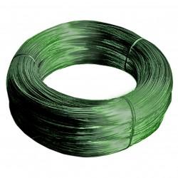 Проволока с ПВХ-покрытием, цвет зеленый, 50 м