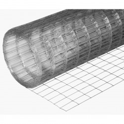Сетка сварная оцинкованная d 1,6мм, размер ячейки 75х100 мм, размер сетки 1,5х15 м (22,5м2, 1 рулон)