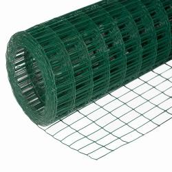 Сетка сварная оцинков. ПВХ-покрытие (зелен.),d1,6мм, ячейка 75х100мм, сетка 1,5х15м (22,5м2, 1 рул.)