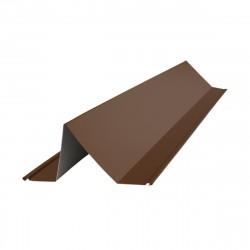 Планка снегозадержателя 2000*115*80мм ПЭ (RAL 8017 (коричневый))