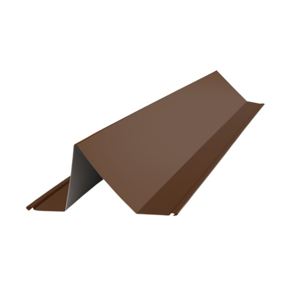 планка снегозадержателя, цвет шоколадно-коричневый ral 8017, 2000 х 115 х 80 мм планка примыкания grand line velur20 ral 5005 250х150 мм резка