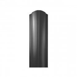 Штакетник ЕВРО фигурный 1800*130мм ПЭ  RAL 7024 (темно серый)