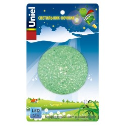 Светильник-ночник Uniel Dtl-309 Шар GREEN 1LED 0,1W