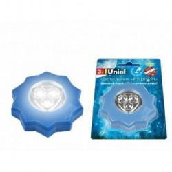 Светильник-ночник Uniel DTL357 Пушлайты Blue 3LED 3АAA