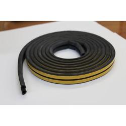 Уплотнитель Profitrast D-профиль (10*12мм) черный 6м