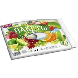 Пакеты для хранения продуктов PROLANG 24*37см  100шт/рулон, прозрачные