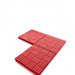 Плитка тротуарная Паркет 300х300х30мм Красная