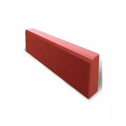 Бордюр тротуарный малый 500х210х40мм красный