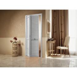 Дверь жалюзийная серый ясень 803мм