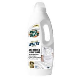 Средство жидкое моющее Crystal White для стирки белых и светлых тканей 1л 288-1