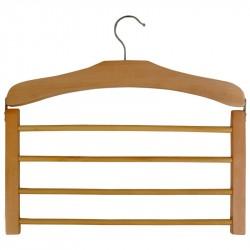 Вешалка деревянная для брюк SS2 4 перекладины 311368