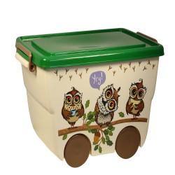 Ящик для игрушек 23л ДЕКО совята М 2550