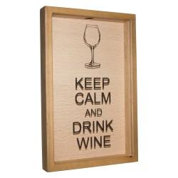 Накопитель для винных пробок 45х29 Keep calm and drink wine орех NP-001-112