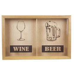 Накопитель для винных и пивных пробок 29х45 Wine / Beer орех NP-003-112